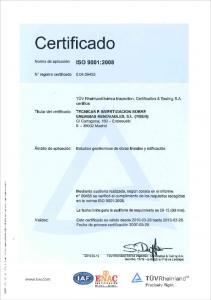 ISO 9001de estudios geotécnicos en obras lineales y edificación